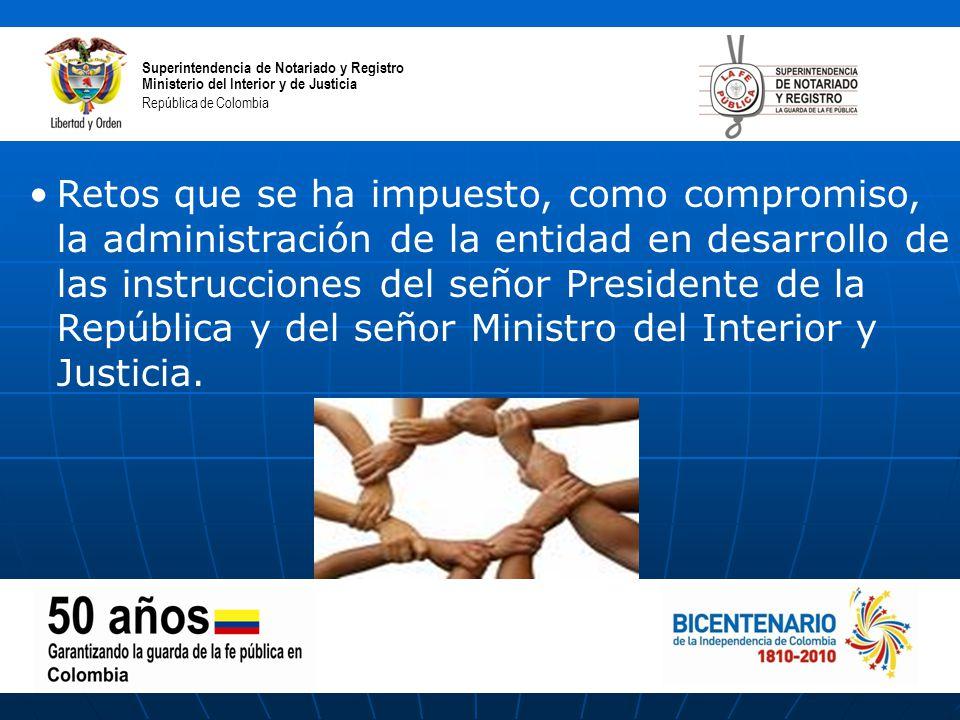 Superintendencia de notariado y registro ppt descargar for Ministerio de interior y justicia direccion