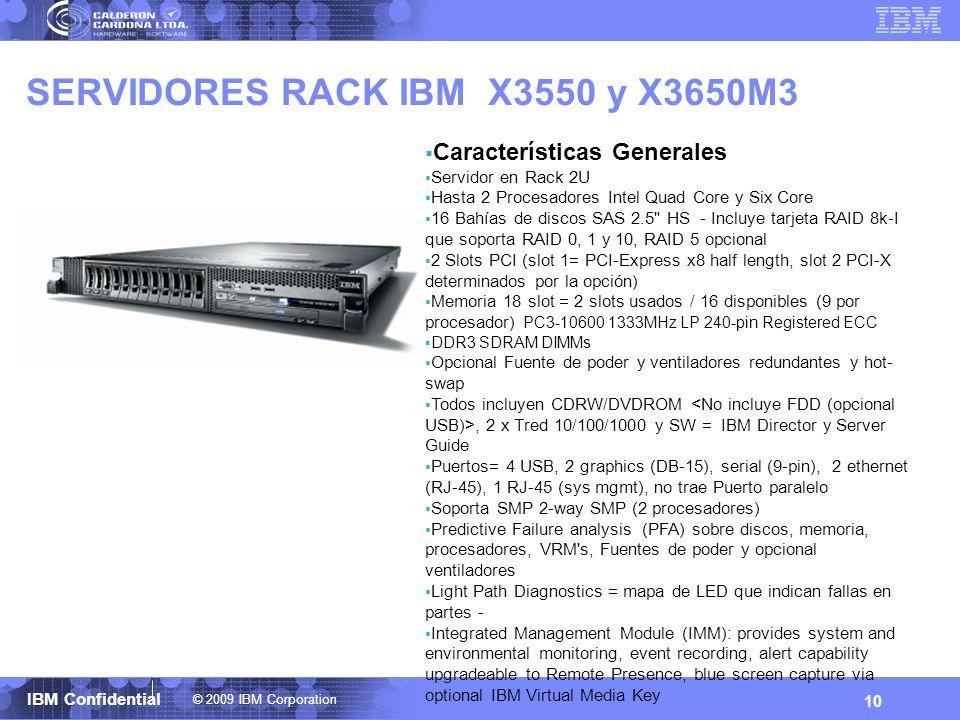 SERVIDORES RACK IBM X3550 y X3650M3