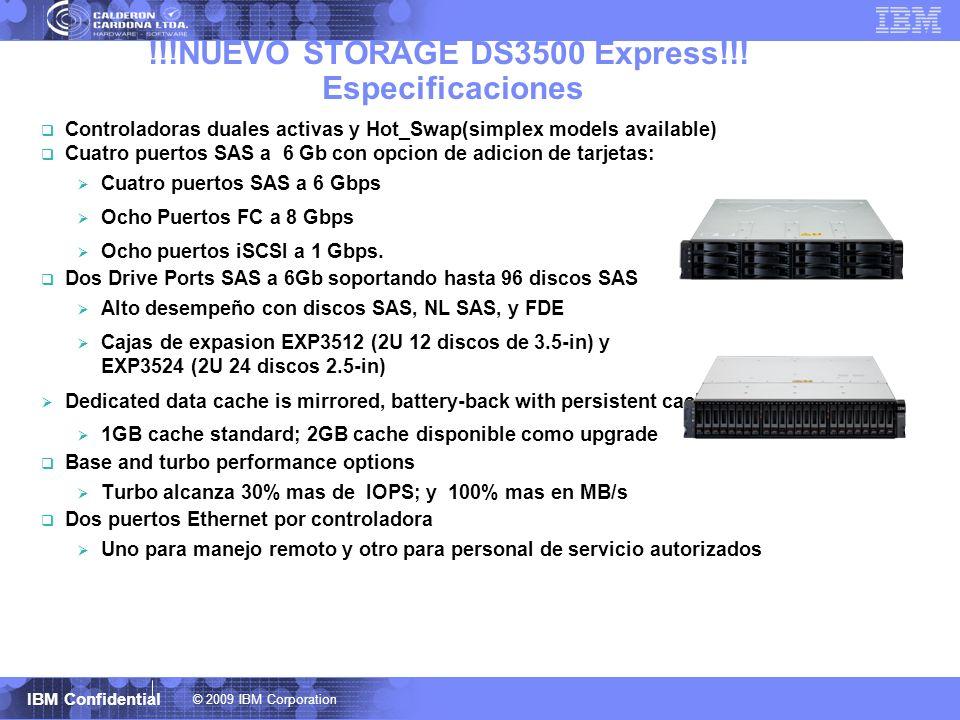 !!!NUEVO STORAGE DS3500 Express!!! Especificaciones