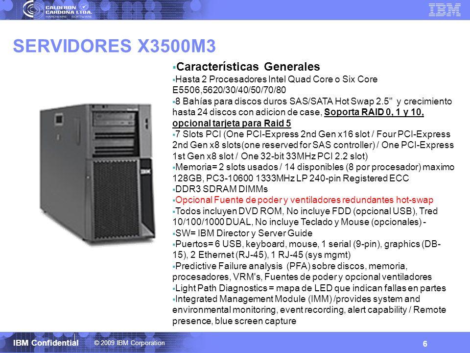 SERVIDORES X3500M3 Características Generales