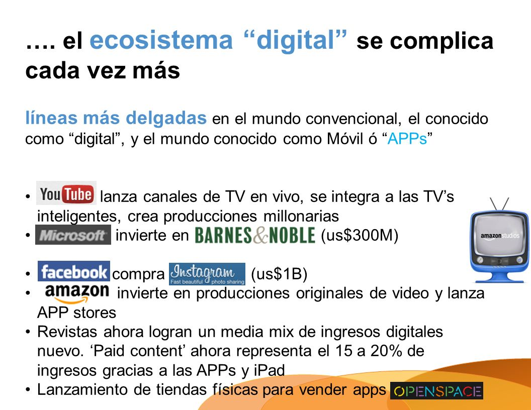 …. el ecosistema digital se complica cada vez más