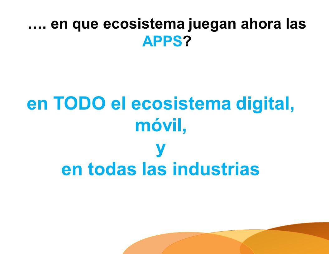 en TODO el ecosistema digital, móvil, y en todas las industrias