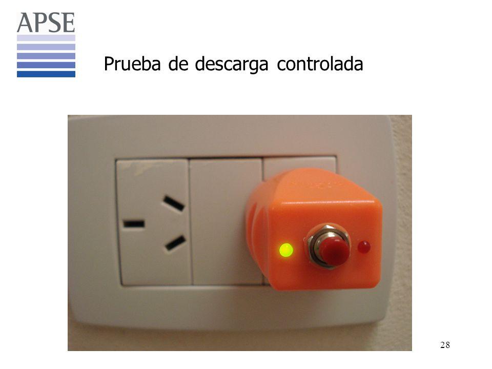 Prueba de descarga controlada