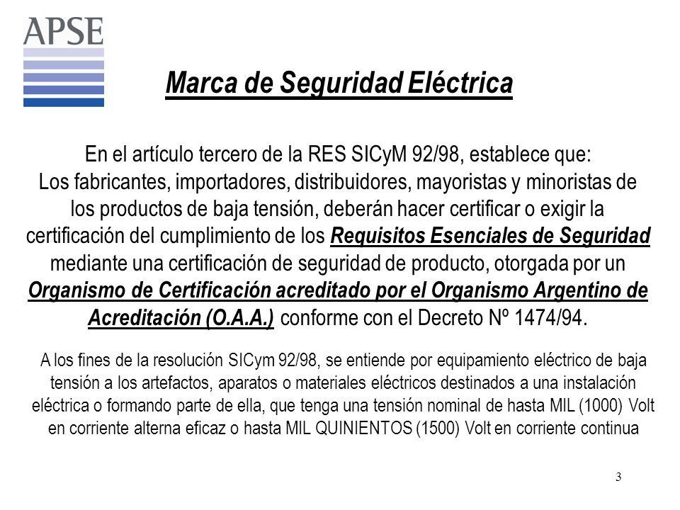 Marca de Seguridad Eléctrica