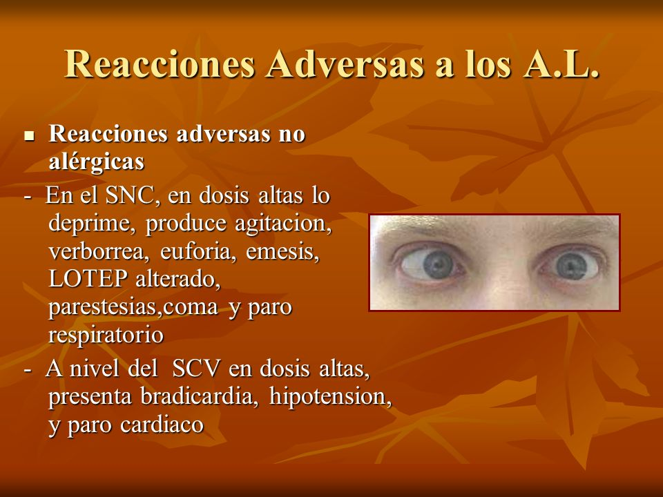 Reacciones Adversas a los A.L.