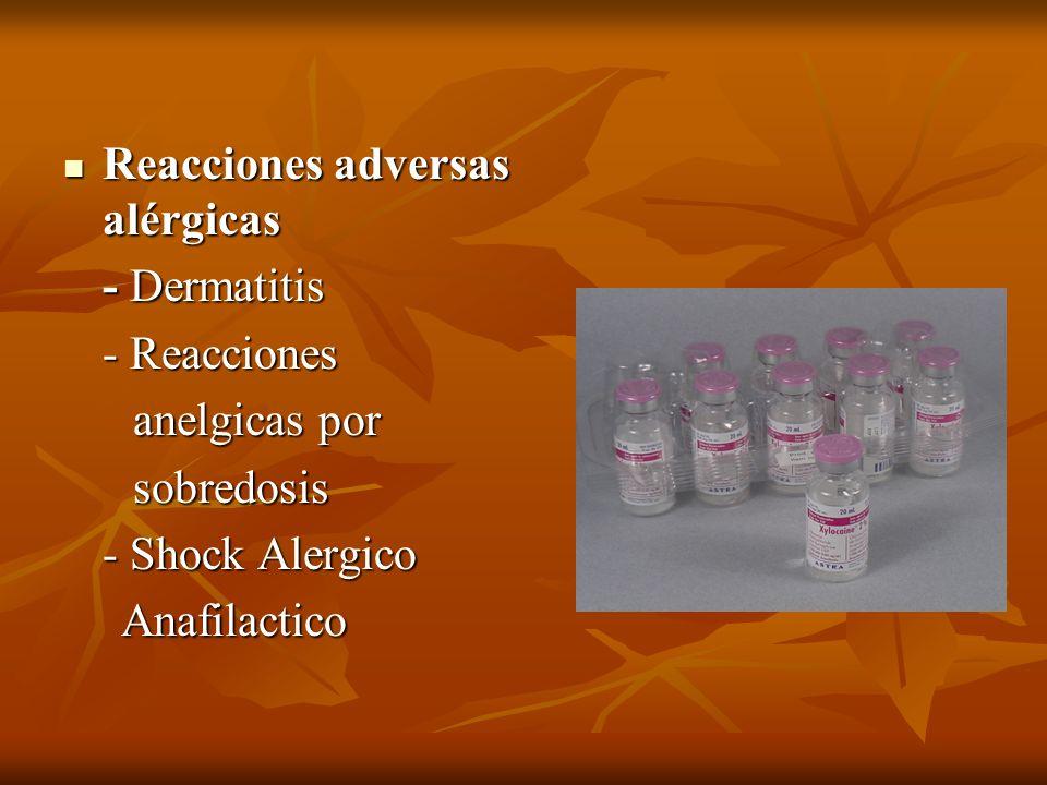 Reacciones adversas alérgicas