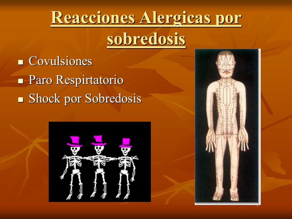 Reacciones Alergicas por sobredosis