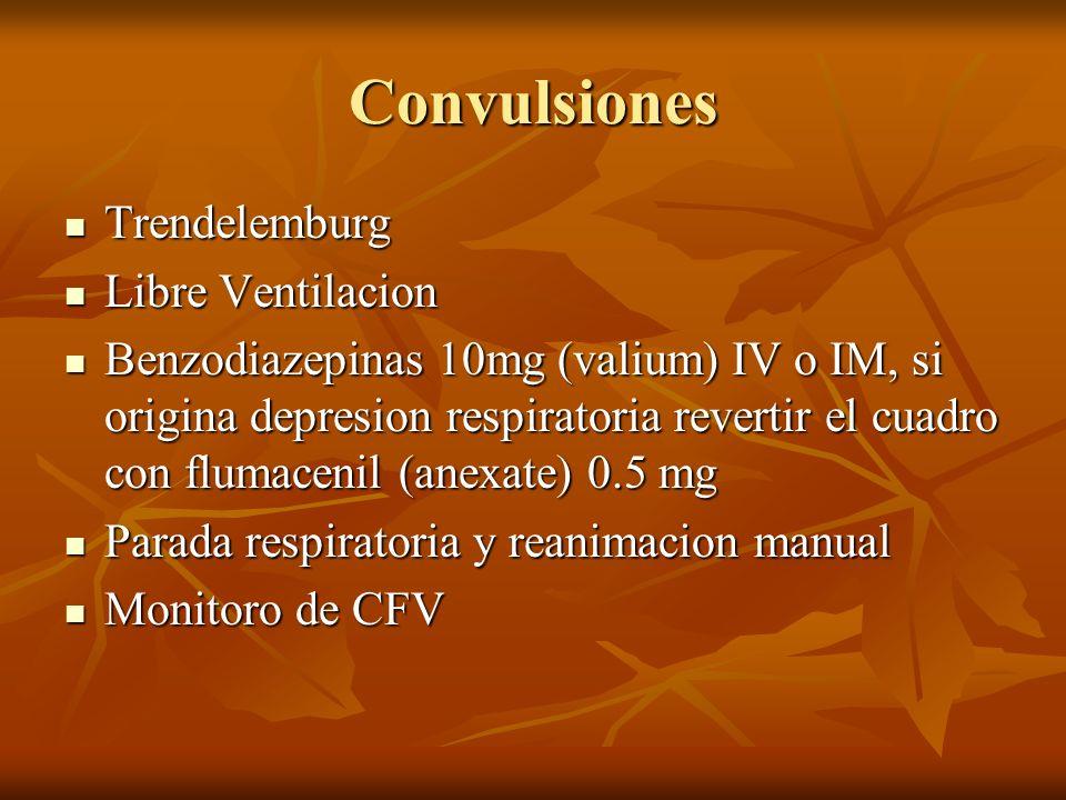 Convulsiones Trendelemburg Libre Ventilacion