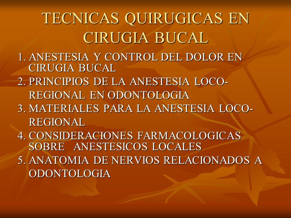 TECNICAS QUIRUGICAS EN CIRUGIA BUCAL