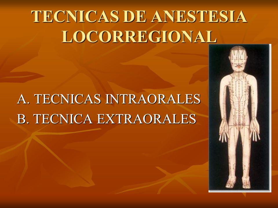 TECNICAS DE ANESTESIA LOCORREGIONAL