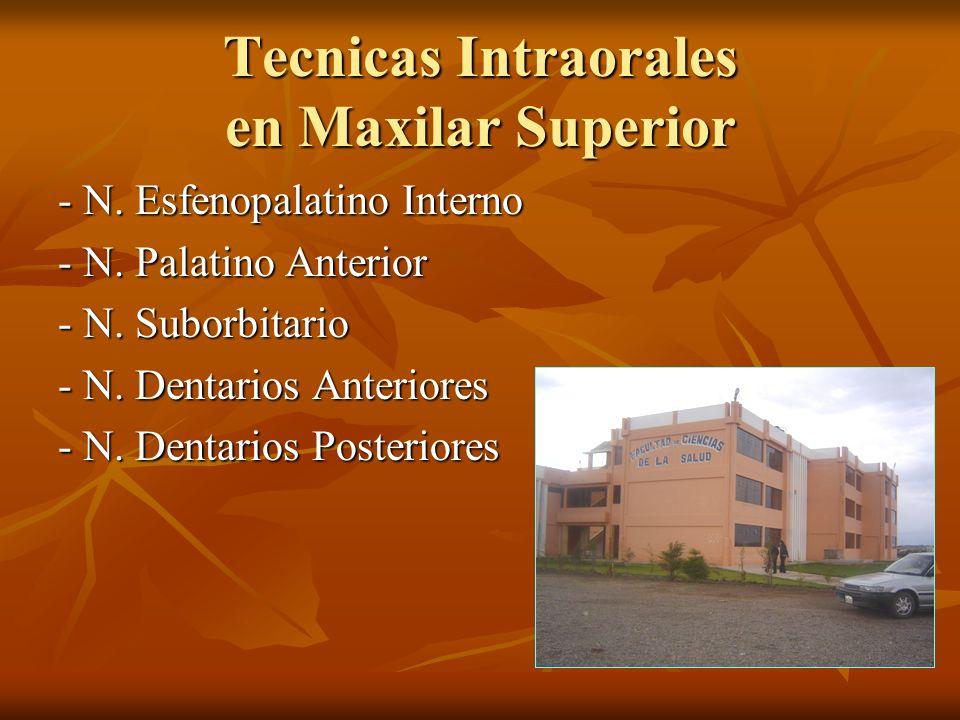 Tecnicas Intraorales en Maxilar Superior