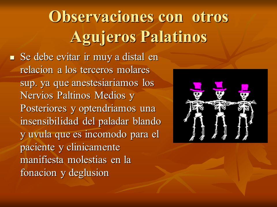 Observaciones con otros Agujeros Palatinos