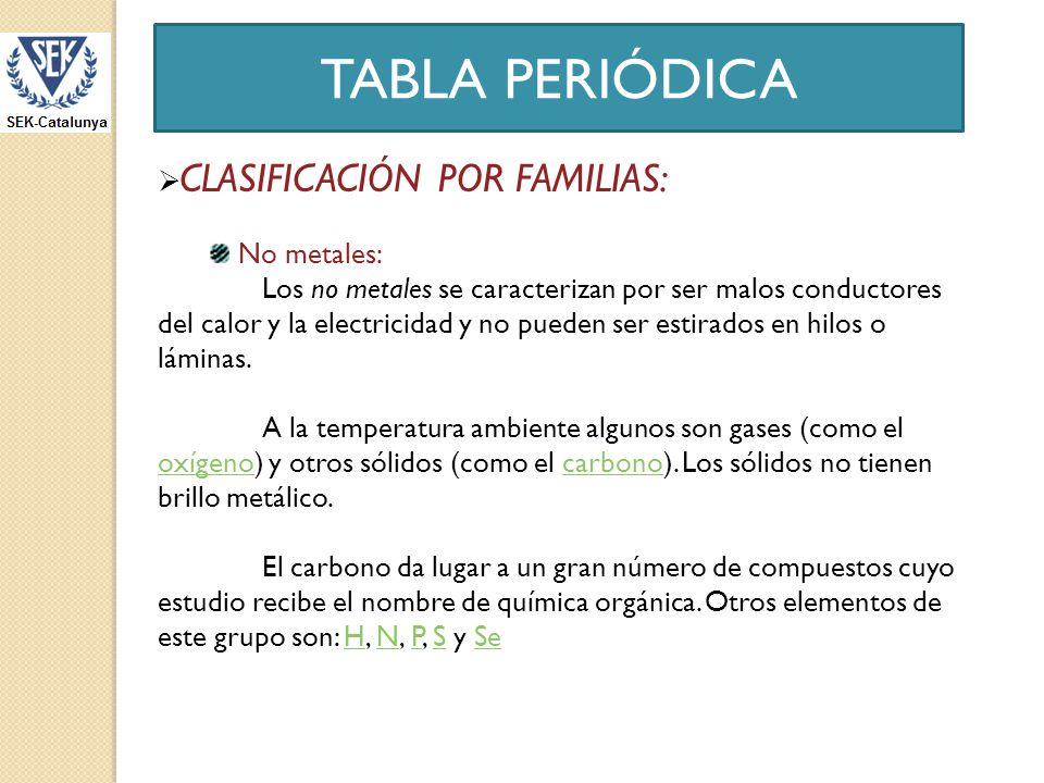 Tabla peridica ppt descargar 14 tabla peridica clasificacin urtaz Image collections