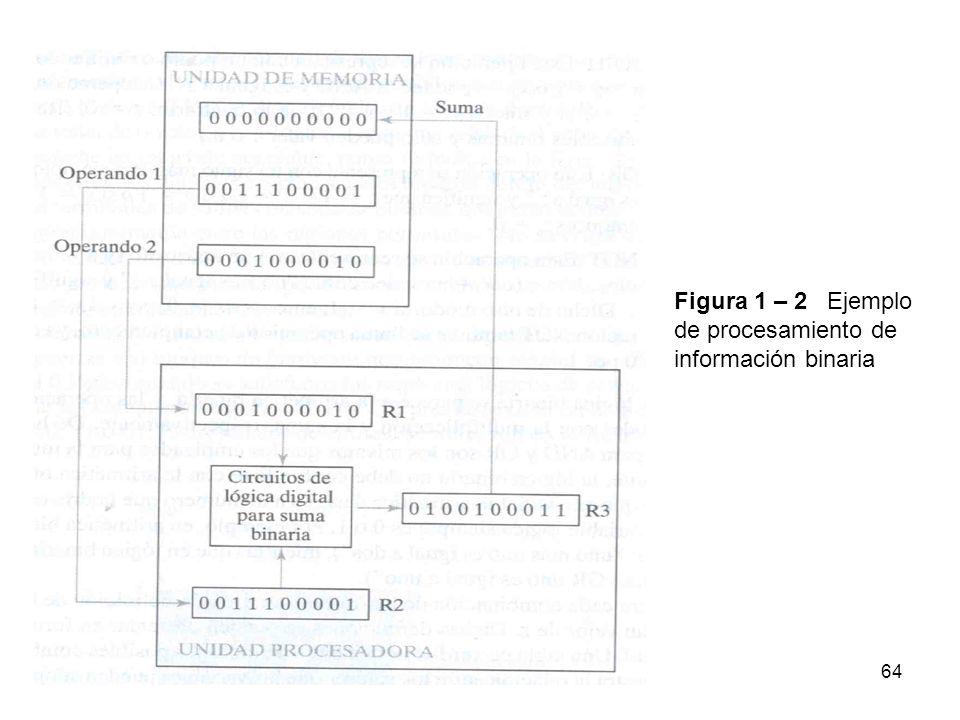 Figura 1 – 2 Ejemplo de procesamiento de información binaria