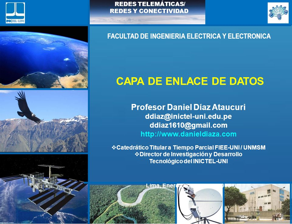 CAPA DE ENLACE DE DATOS Profesor Daniel Díaz Ataucuri