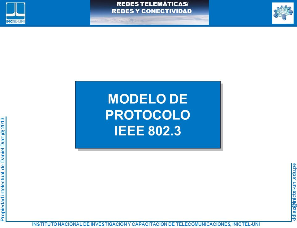 MODELO DE PROTOCOLO IEEE 802.3