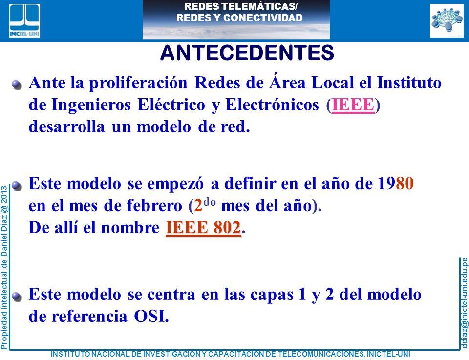 ANTECEDENTES Ante la proliferación Redes de Área Local el Instituto