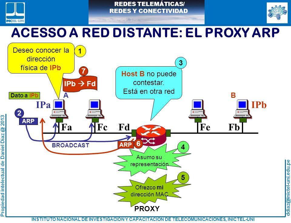ACESSO A RED DISTANTE: EL PROXY ARP