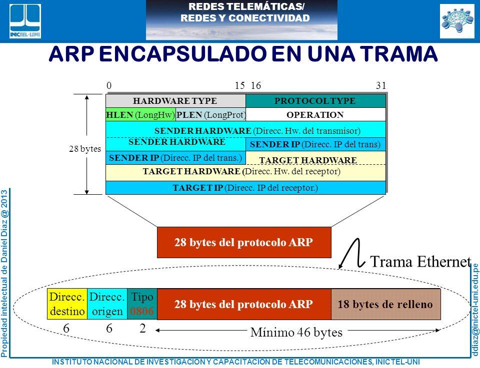 28 bytes del protocolo ARP
