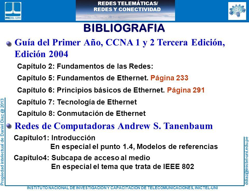 BIBLIOGRAFIA Guía del Primer Año, CCNA 1 y 2 Tercera Edición,