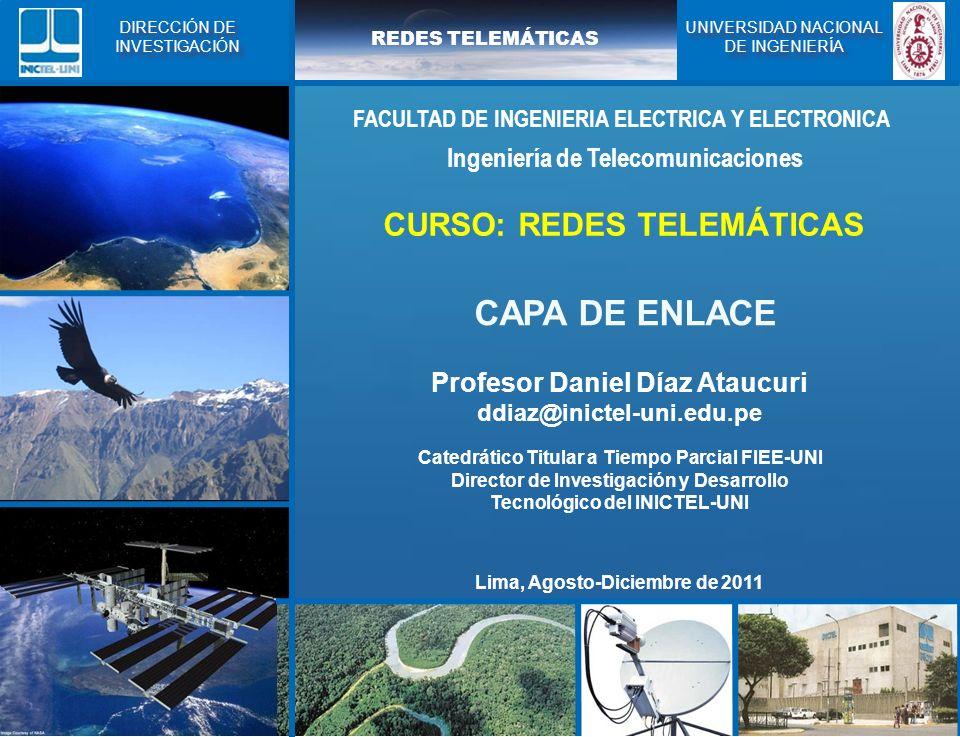 CAPA DE ENLACE CURSO: REDES TELEMÁTICAS
