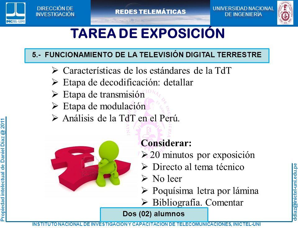5.- FUNCIONAMIENTO DE LA TELEVISIÓN DIGITAL TERRESTRE