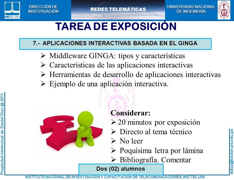 7.- APLICACIONES INTERACTIVAS BASADA EN EL GINGA