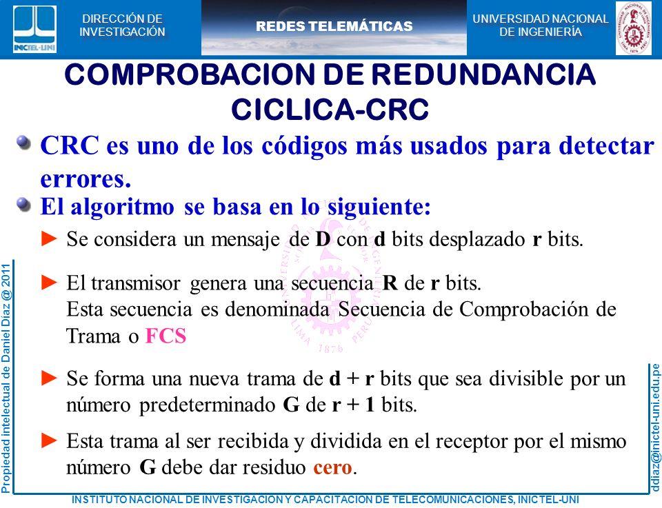COMPROBACION DE REDUNDANCIA