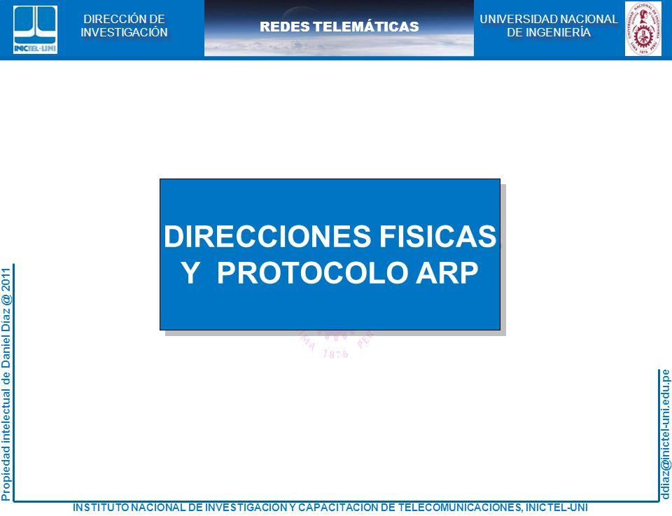 DIRECCIONES FISICAS Y PROTOCOLO ARP
