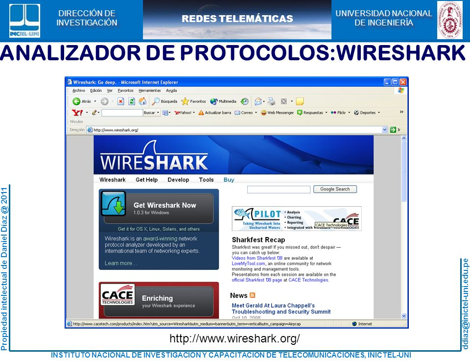 ANALIZADOR DE PROTOCOLOS:WIRESHARK