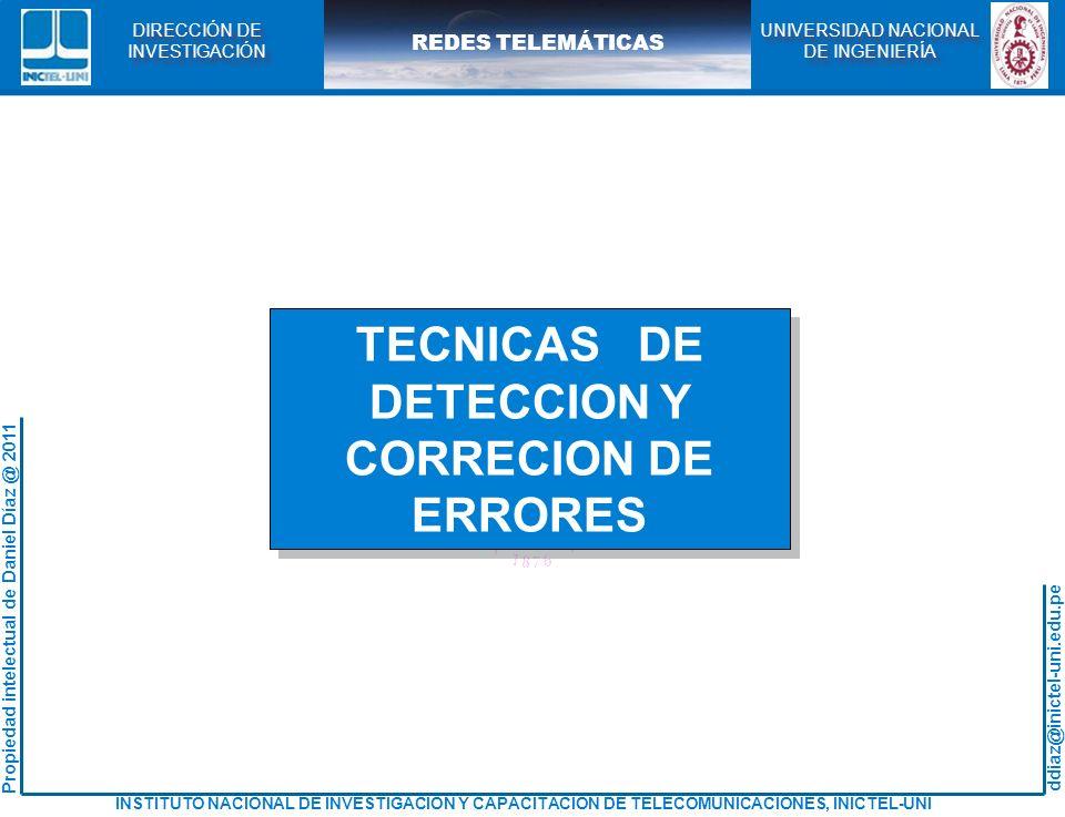 TECNICAS DE DETECCION Y CORRECION DE ERRORES