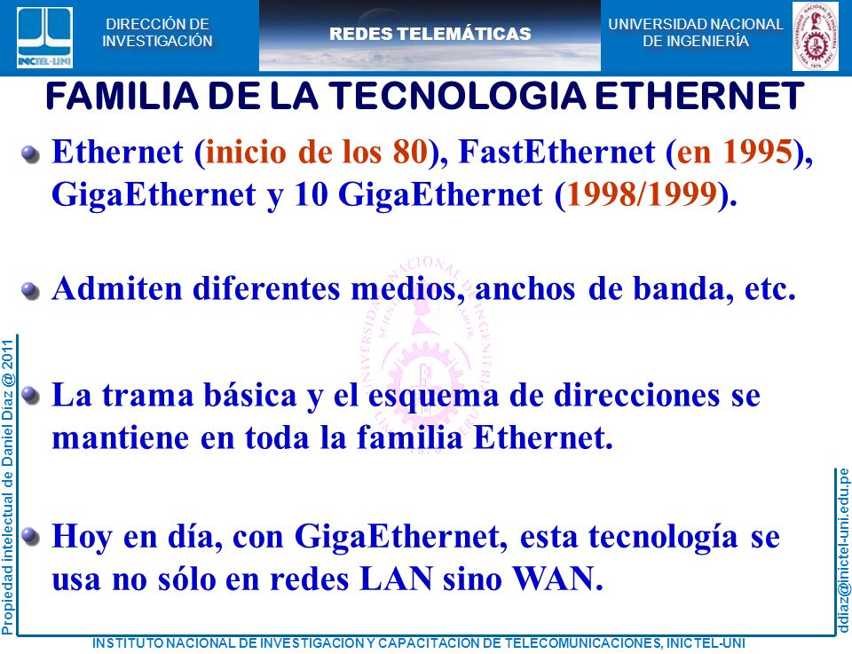FAMILIA DE LA TECNOLOGIA ETHERNET