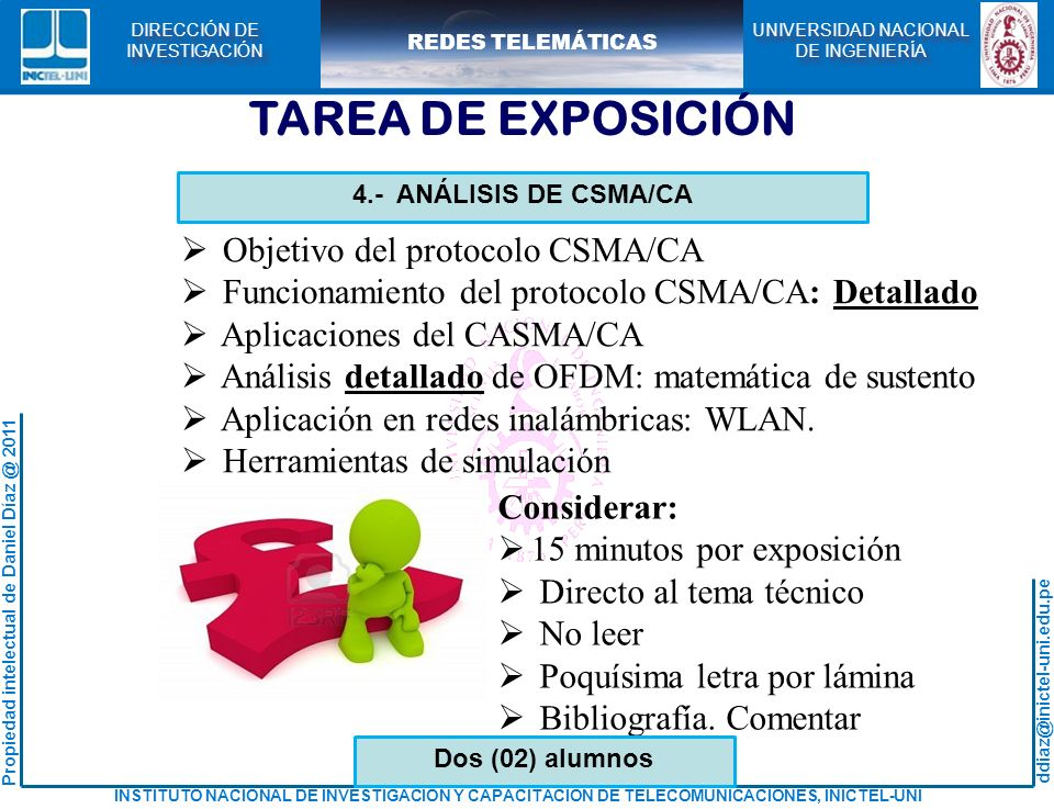 TAREA DE EXPOSICIÓN Objetivo del protocolo CSMA/CA