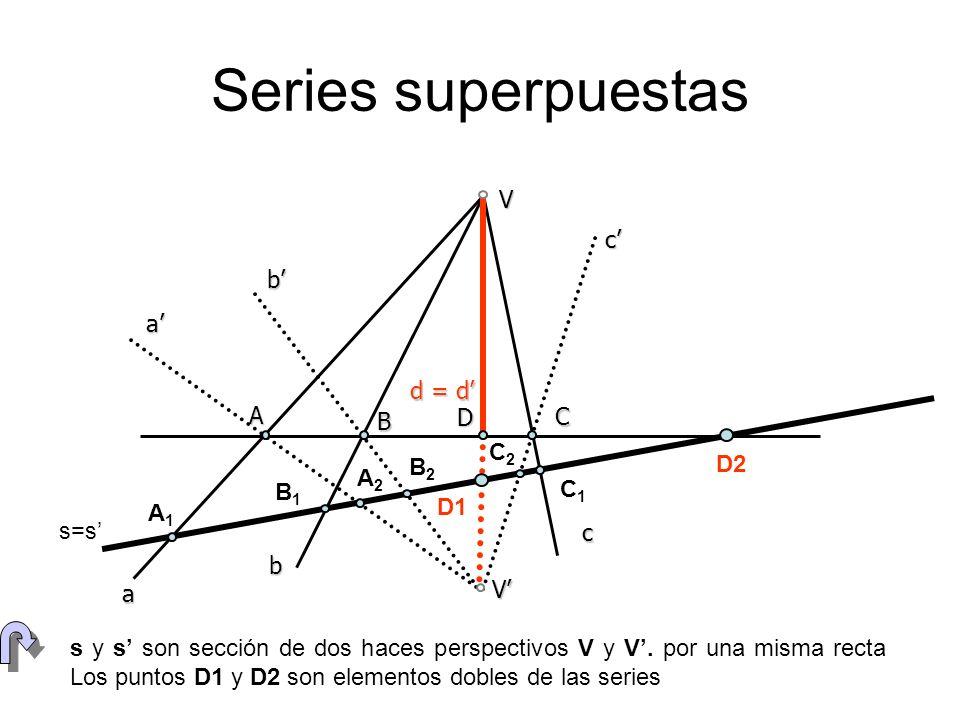 Series superpuestas a b c V d = d' V' a' b' c' A B D C s=s' A1 A2 B1
