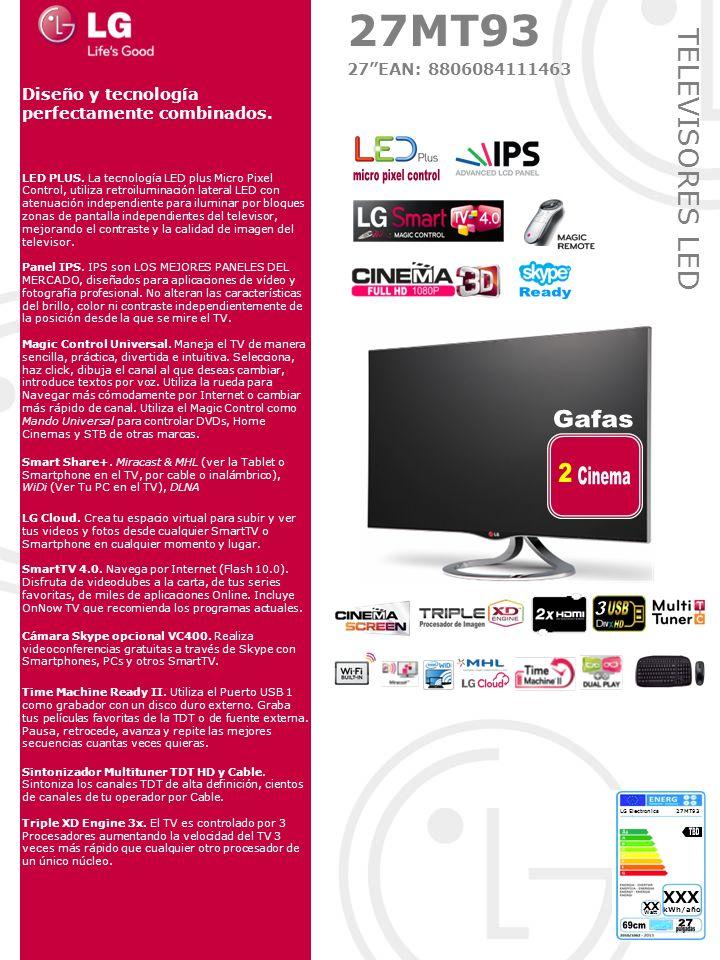 micro pixel control Ready Gafas 2 Cinema 3 TBD 69cm 27 27MT93