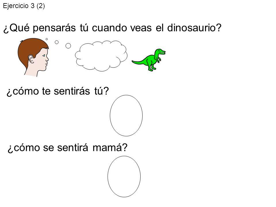 ¿Qué pensarás tú cuando veas el dinosaurio