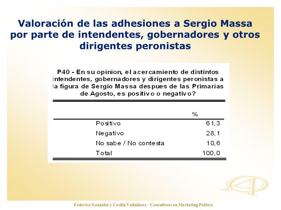 Valoración de las adhesiones a Sergio Massa por parte de intendentes, gobernadores y otros dirigentes peronistas