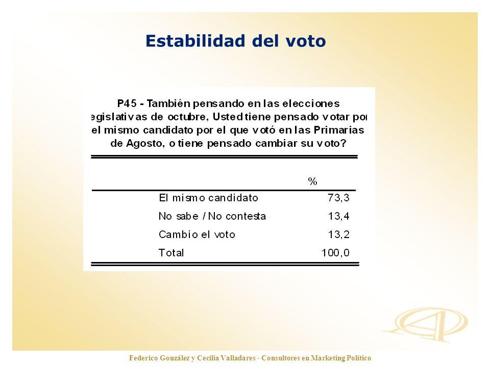 Estabilidad del voto Federico González y Cecilia Valladares - Consultores en Marketing Político