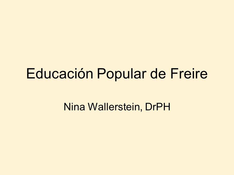 Educación Popular de Freire