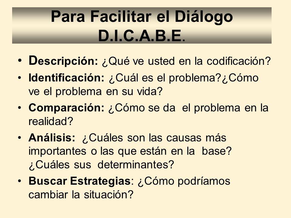 Para Facilitar el Diálogo D.I.C.A.B.E.