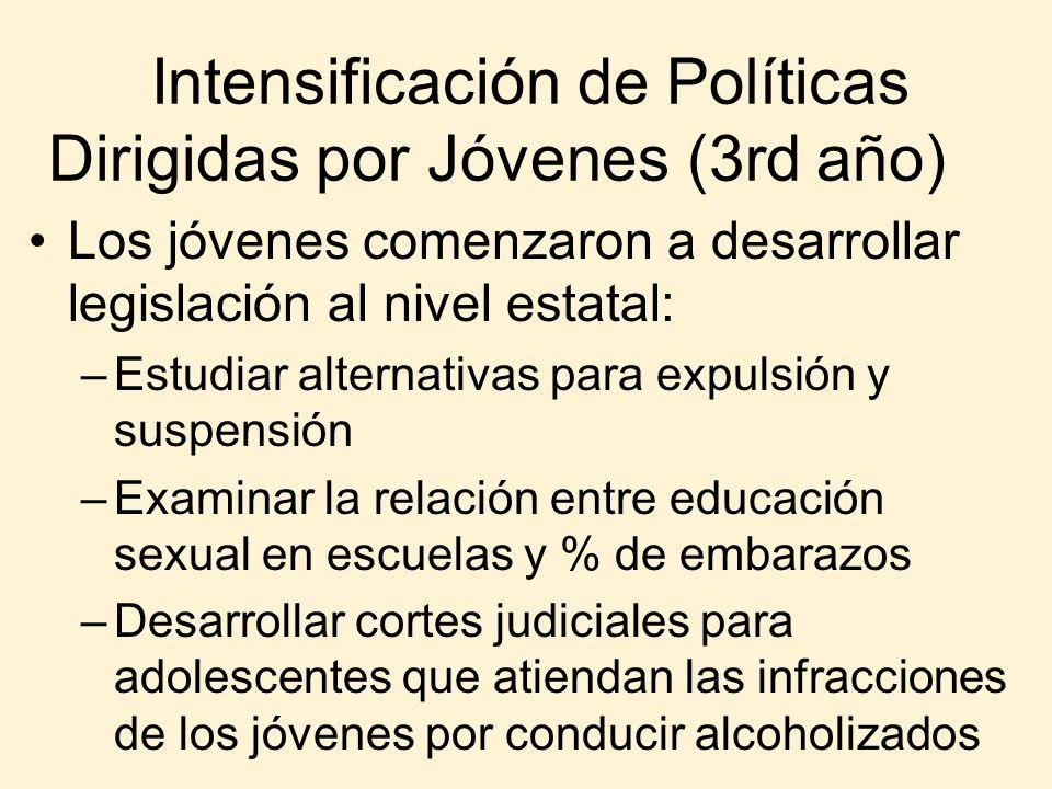 Intensificación de Políticas Dirigidas por Jóvenes (3rd año)