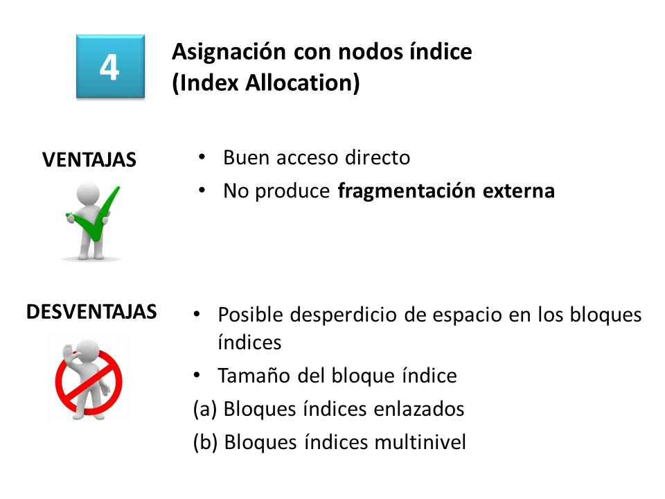 Asignación con nodos índice (Index Allocation)