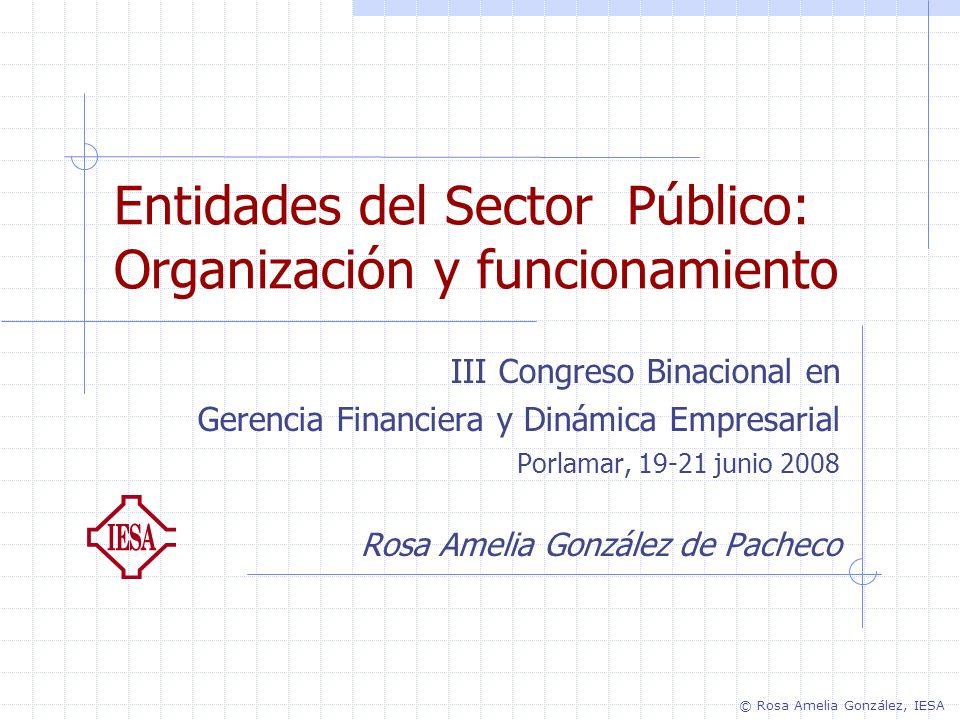 Entidades del Sector Público: Organización y funcionamiento