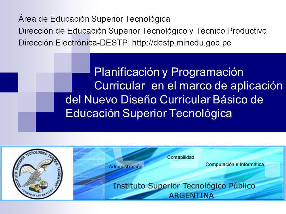 Área de Educación Superior Tecnológica