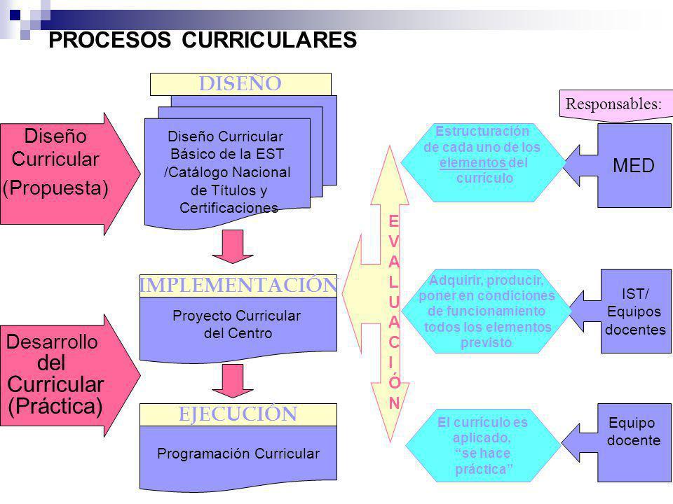 PROCESOS CURRICULARES
