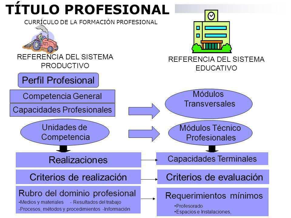 TÍTULO PROFESIONAL Perfil Profesional Realizaciones