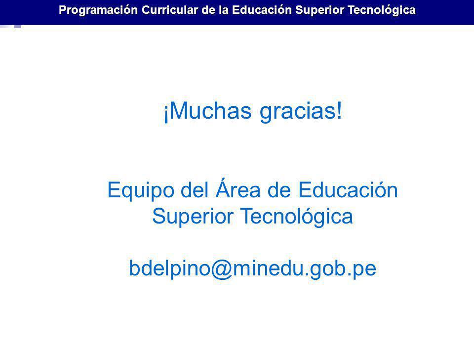 Programación Curricular de la Educación Superior Tecnológica