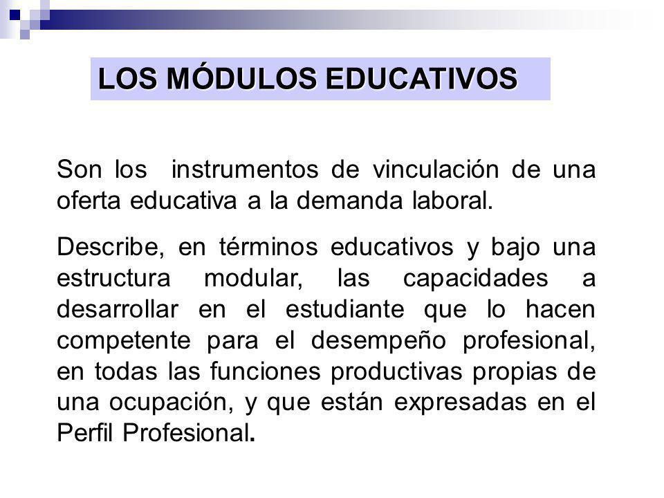 LOS MÓDULOS EDUCATIVOS