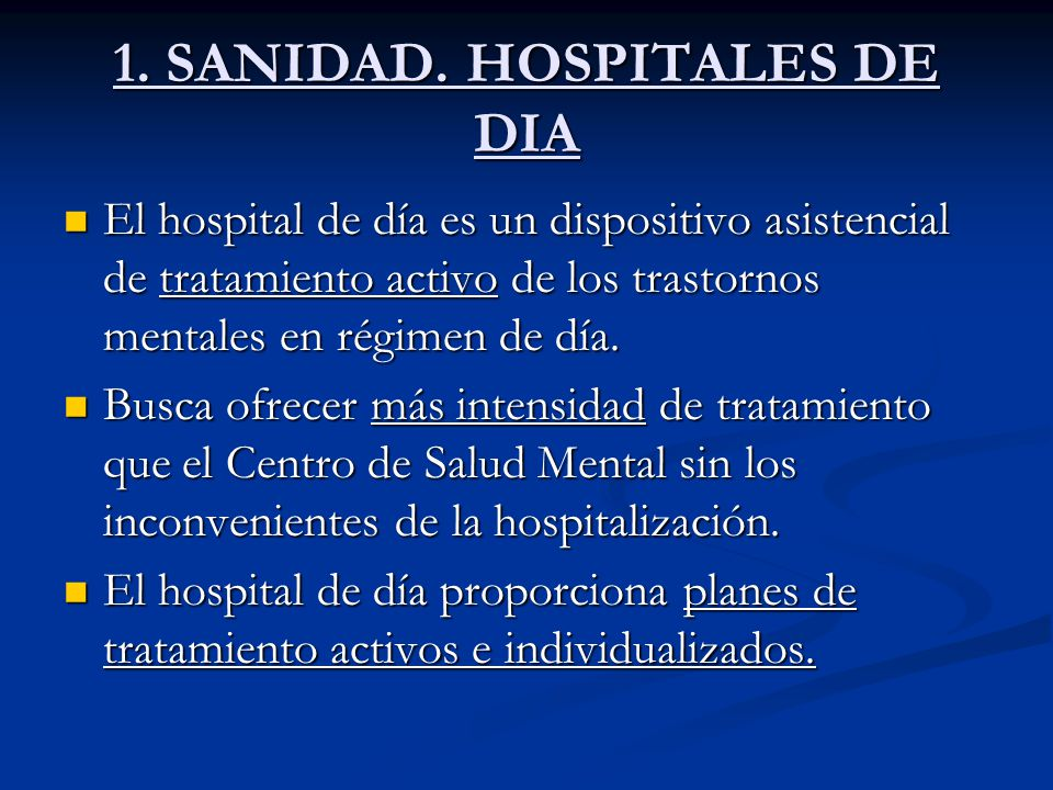 Los centros educativos terap uticos hospitales de d a for Hospital de dia madrid