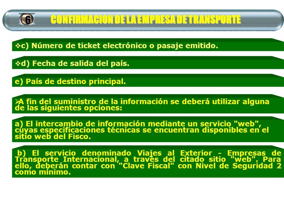 CONFIRMACION DE LA EMPRESA DE TRANSPORTE